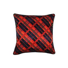 Tartan Plaid And Crest Button Pillow ($130) ❤ liked on Polyvore featuring home, home decor, throw pillows, button throw pillow, plaid throw pillows, plaid home decor and frontgate