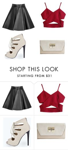 """""""Trendy Statement"""" by elysse-r on Polyvore featuring MSGM, Boohoo, GUESS, women's clothing, women's fashion, women, female, woman, misses and juniors"""
