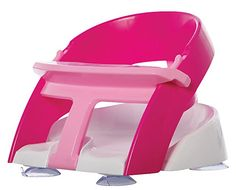 """Dream Baby Bathtub Seat - """"Pink""""... I have a different brand of bathseat, but this was SO handy when my baby was able to sit up well, and I could bathe her with my toddler safely.  Such a time-saver! #DiaperscomNursery"""