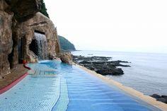 Hot Springs with Stunning Ocean View at Enoshima Island Spa - Japan