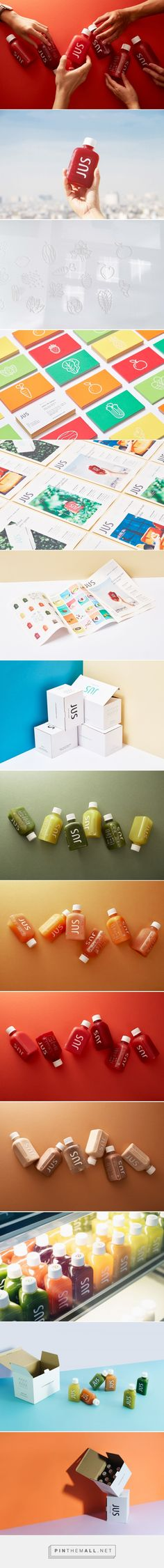 JUS • Juice Up Saigon packaging design by M - N Associates - http://www.packagingoftheworld.com/2017/11/jus-juice-up-saigon.html