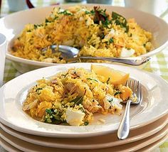 Smoked haddock kedgeree - made this recently, easy but loads of flavour, comfort food but bonus of being healthy!