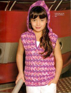 Delicadezas en crochet Gabriela: Prendas para  niñas con paso a paso