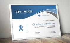 Elegant curve certificate template by Inkpower on @creativemarket
