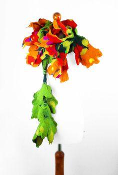 Felted Scarf Nunofelt~Scarf Art Wrap Scarves wild Felt Nuno felt ~ Silk Silky felted Eco fairy multicolor floral shawl ~ Fiber Art ~ beautiful ★❤★ RESERVED by 'filcant' on Etsy★❤★