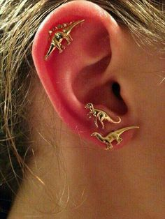 So cool dinosaur earrings★