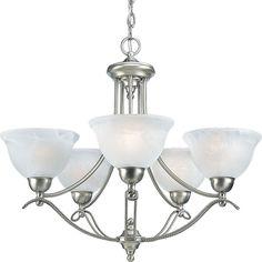 Progress Lighting 5-light Chandelier Lighting Fixture (5-Lt. chandelier), Grey (Glass)