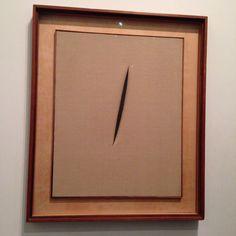 Lucio Fontana #art #TateGallery