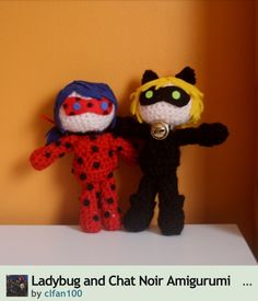 Miraculous Ladybug and Chat Noir dolls