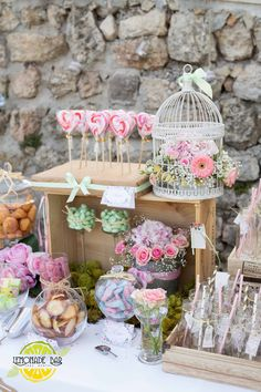 Wedding, theme rustic Rental jars and decoration setting, Candy bar, sweet buffet, lemonade bar