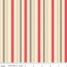 October Afternoon Fabric- Sasparilla - Sasparilla Stripe in Red