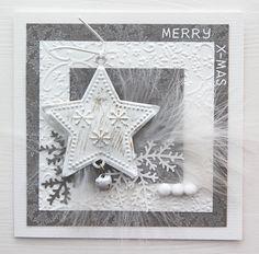 Gallery: x-mas card Gallery: x-mas card Christmas Card Crafts, Homemade Christmas Cards, Christmas Cards To Make, Homemade Cards, Handmade Christmas, Snowflake Cards, Snowflakes, Star Cards, Theme Noel