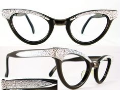 71ec6ef97f6 Vintage Eyeglasses Frames Eyewear Sunglasses 50S  VINTAGE 50s CAT EYE  GLASSES SUNGLASSES FRAME GLASSES Love