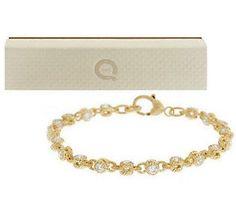 Judith Ripka 14K Clad 5.50ct 100-Facet Average Rolling Bracelet