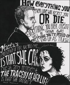 God gave us Rock 'n' Roll Fight Club Quotes, Memories Of Murder, Fight Club 1999, Fight Club Marla, Marla Singer, Tyler Durden, Movie Poster Art, Club Poster, Film Base