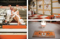 Lovely Neyland Stadium portraits. See more from this Knoxville wedding inspiration collection by @bledsoephoto with an orange and white University of Tennessee Volunteers theme! | The Pink Bride® www.thepinkbride.com