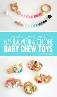 How to make Natural Wood & Silicone Baby Chew Toys | Make It and Love It
