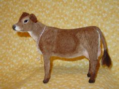 Needle Felted Wool Jersey Cow
