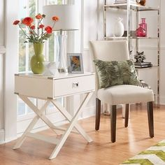 INSPIRE Q Kenton x Base Wood Accent Campaign Table - 14776300 - Overstock.com Shopping - Great Deals on INSPIRE Q Coffee, Sofa & End Tables