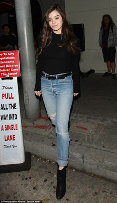 Hotspot! Hailee Steinfeld, 19, stepped out at Craig's restaurant in West Hollywood on Frid...