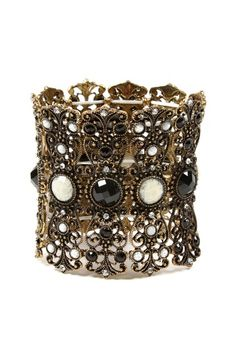 Hampton Bay Cuff by Top Trend: Black & Gold Jewelry on @HauteLook