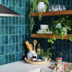 Instantly spruce up a kitchen corner with faux greenery like mini ferns and palms. Kitchen Items, Home Decor Kitchen, New Kitchen, Kitchen Design, Kitchen Plants, Kitchen Products, Artificial Flowers And Plants, Kitchen Corner, Fruit Print