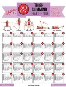 30 Day Thigh Slimming Challenge !