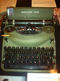 Noel Coward's Remington Rand typewritter exhibited at the Performing Arts Library at Lincoln Center.