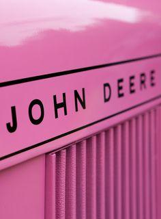 Pink John Deere...October Breast Cancer Awareness