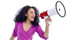 Woman with megaphone 2