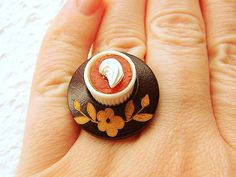 Kawaii Food Ring Pudding Miniature Food Jewelry by SouZouCreations, $12.50