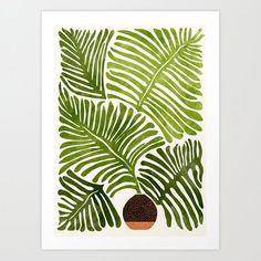 Summer Fern / Simple Modern Watercolor Artwork by Moderntropical - MEDIUM Watercolor Plants, Easy Watercolor, Watercolor Paintings, Watercolor Wood, Plant Painting, Plant Art, Art Africain, Modern Tropical, Guache
