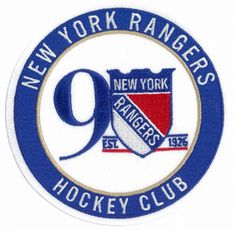 2017 NHL New York Rangers 90th Anniversary Official Hockey Game Jersey Patch