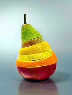 """Play with your food: Awesome food art"" -- another compilation of awe-inspiring food art. Shown: Sliced fruit."