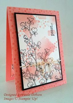 Stampinantics: COLOUR ME HAPPY - Stamps:  Happy Watercolor Inks:  Early Espresso, Crisp Cantaloupe Cardstock: Early Espresso, Crisp Cantaloupe, Very Vanilla Accessories: Gold Bakers Twine, Dimensionals