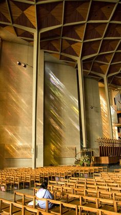Interior - new Coventry Cathedral - England Sarah & I were in here and it is very pretty, not the beauty of the old ones. sc