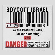 Boycott now btw the code 871 als can be Israeli so be careful when you shop!! Also note if you buy goods produced by Israel you too are held accountable for what is happening in Palestine!! Please please boycott their goods you can make a change! Peace ✌!!!