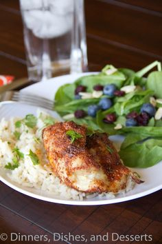 Spiced Chicken Thighs with Garlicky Rice #recipe