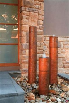 Raw Steel Pipes Water Feature Love It Sitting In The