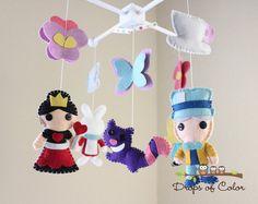 Decoración de la habitación de bebé móvil  por dropsofcolorshop, $95.00