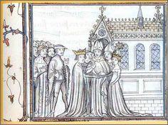 Mariage d'Aliénor d'Aquitaine et du Roi de France Louis VII