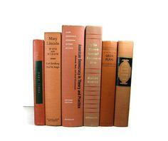 Brick Orange Earth Tone Vintage   Books by DecadesOfVintage, $38.00