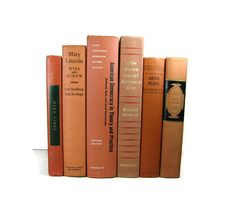Brick Orange Earth Tone Vintage   Books by DecadesOfVintage, $38.00