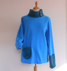A personal favourite from my Etsy shop https://www.etsy.com/ie/listing/150178081/ladies-fleece-jumper-turtleneck