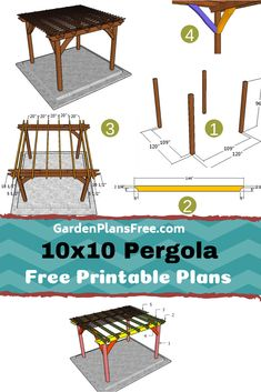 The pergola kits are the easiest and quickest way to build a garden pergola. There are lots of do it yourself pergola kits available to you so that anyone could easily put them together to construct a new structure at their backyard. Pergola Diy, Building A Pergola, Outdoor Pergola, Wooden Pergola, Pergola Ideas, Pergola Shade, Metal Pergola, Pergola Lighting, How To Build Pergola