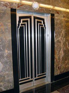 Art Déco - Empire State - Intérieurs - Ascenseur