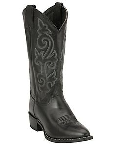 Justin Men's Black London Calf Classic Western Boots