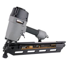 "NuMax SFR2190 21 Degree Framing Nailer. Ideal for Wall Framing, Roof Decking, Wood Fencing, Sub Floors. Dual-Mode Trigger easily allows for single or sequential firing. Depth Adjust for various applications, No-Mar Tip eliminates damage to working surfaces. Uses 21 Degree nails ranging in size from 2"" to 3-1/2"" Plastic Collated Round head. Anti-dry fire mechanism activates with 5 nails remaining in magazine."