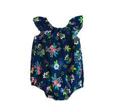 Floral Baby Romper, Newborn Romper, Toddler Romper, Boho Baby Romper, Girls Romper, Spring Baby Romper, Baby Girl Romper