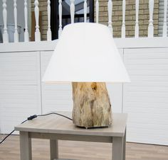 Repurpose a tree stump.   24 Clever DIY Ways To Light Your Home